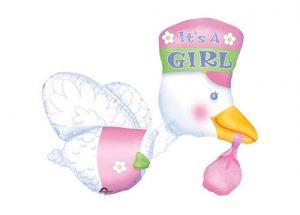 Its a girl stork balloon