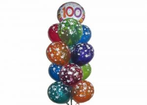 100th Birthday Balloon Tower