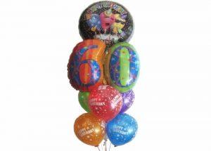 60th Mega Milestone Singing Birthday Balloon Bouquet