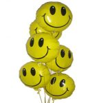 Yellow Smiley Faces Balloon Bouquet