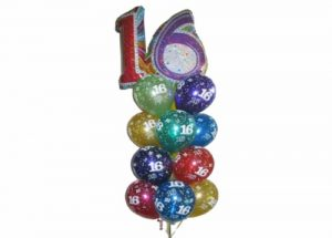 Awesome 16th Birthday Balloon Bouquet