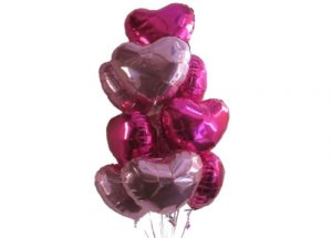 Awesome Pink Hearts Helium Balloons Perth