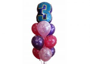 Three Birthday Balloon Bouquet