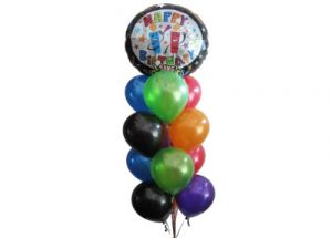Birthday Candles Singing Balloon Bouquet
