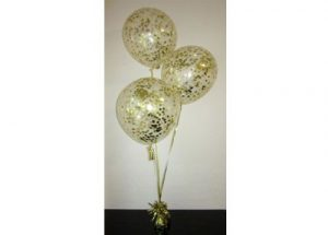 Gold Confetti Balloon Arrangement