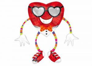 Funky Heart Airwalker Balloon