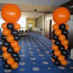 Giant Balloon Columns Orange Black