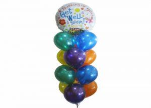 Get Well Soon Singing Balloon Bouquet