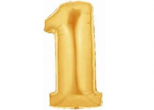 Giant Gold Number One Balloon