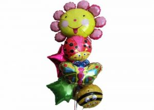 Happy Flower Helium Balloon Bouquet Perth