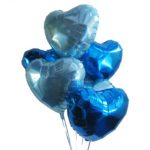 Blue Happy Hearts Balloon Bouquet