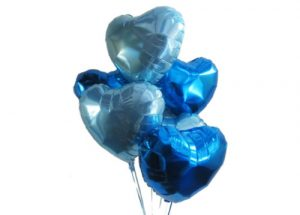 Blue Happy Hearts Balloon Bouquet