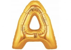 Letter A Gold Balloon