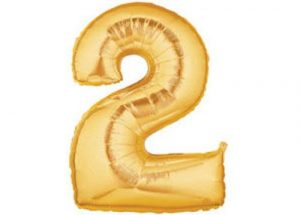 Gaint Gold Number Two Balloon