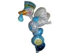 Stork Baby Arrival Balloon Bouquet