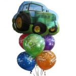 Tractor Birthday Balloon Bouquet