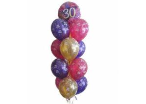 30th Birthday Balloon Tower