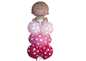 Baby Girl Helium Balloon Bouquet Perth