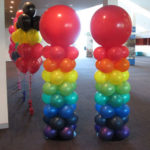 Rainbow Balloon Columns
