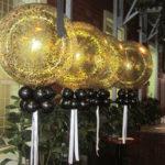 Giant Gold Confetti Helium Balloons