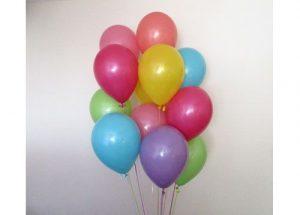 bunch helium balloons