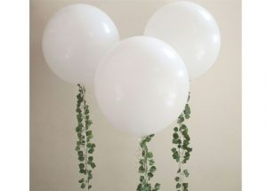 Giant Balloons with Ivy Garland