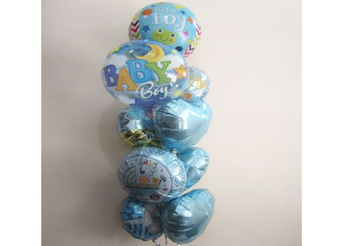 Baby Boy Balloon Tower