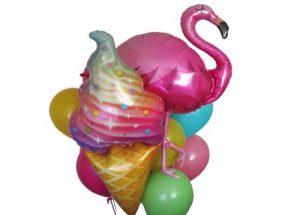 Flamingo Icecream Balloon Bouquet