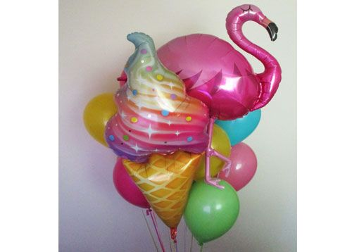 flamingo Icecream Balloon bouquet