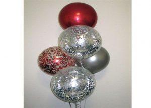 Luxurry confetti balloon arrangement