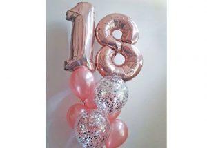 18th confetti brilliance balloons